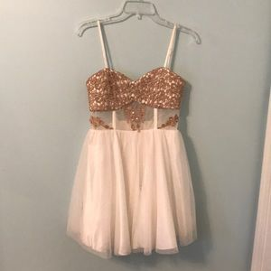 Sequin Hearts Cocktail Party Dress
